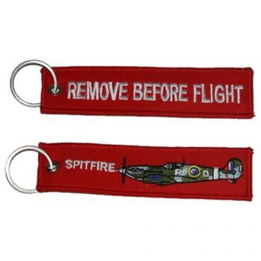 Klíčenka REMOVE BEFORE FLIGHT SPITFIRE