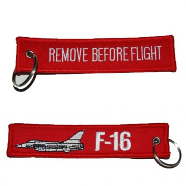 Klíčenka REMOVE BEFORE FLIGHT F-16