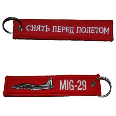 Klíčenka REMOVE BEFORE FLIGHT MiG- 29