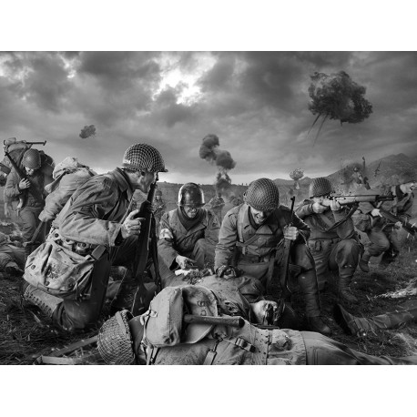 American soldiers on Field